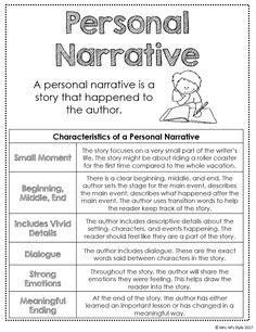 narrative anchor chart images  grade writing