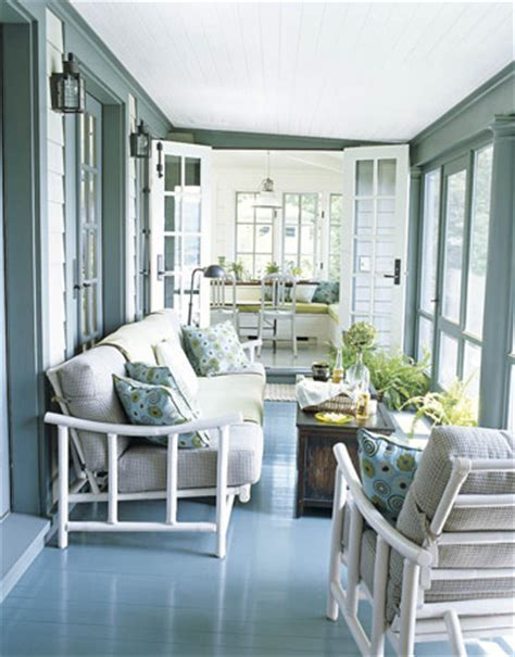 enclosed porch country style decor decorating ideas