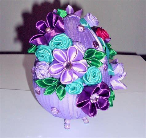 Egg Jajko Styropianowe Owiniete Wstazka Satynowa Kwiaty