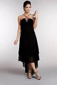robe mi longue en mousseline noir tatifr couture With robe longue tati