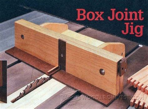 box joint jig plans joinery tips jigs  techniques woodwork woodworking woodworking