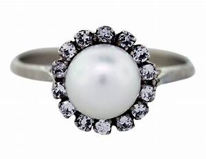 pearl and diamond engagement rings with vintage style With pearl and diamond wedding rings
