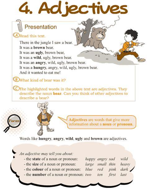 grade  grammar lesson  adjectives  images