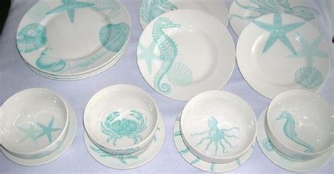 sea themed turquoise  blue dishes