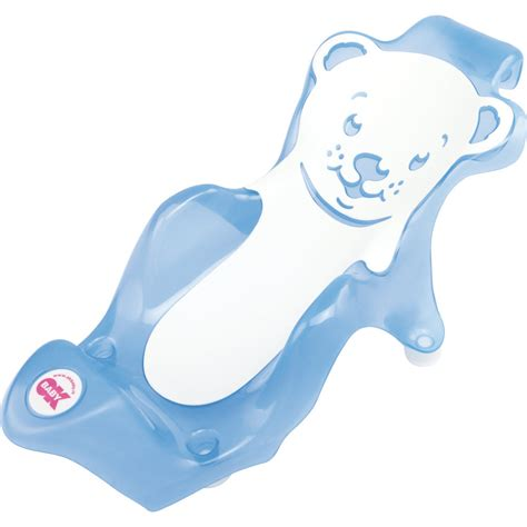 siege de bain bebe transat de bain buddy bleu blanc de ok baby fauteuils