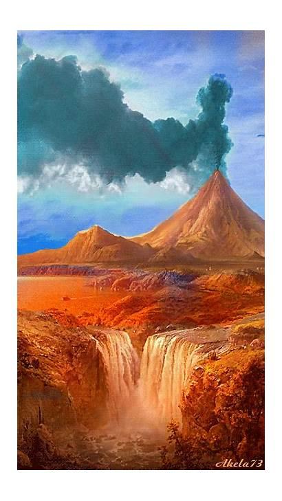 Gifs Volcano Water Waterfalls Volcan Akela73 Chile