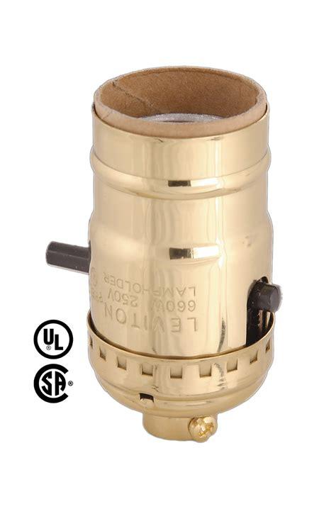 uno socket l base leviton brand push thru socket no uno thread 40102n b