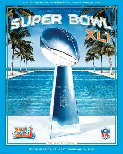 Super Bowl Xli Program Cover Super Bowl Superbowl