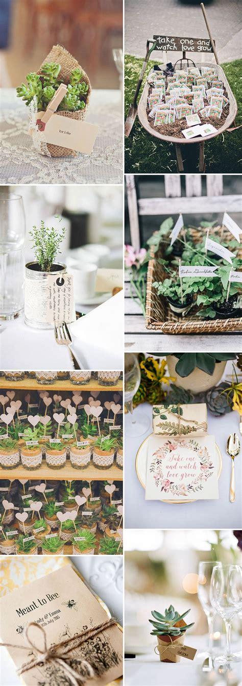 unique and eco friendly wedding favour ideas your guests