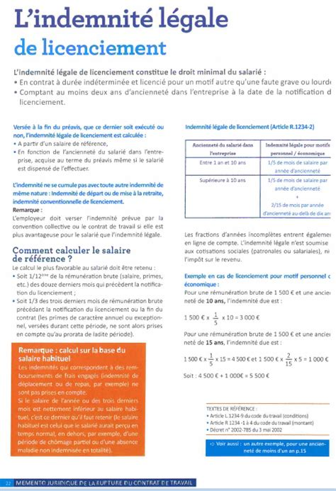 calcul indemnite licenciement metallurgie cadre 28 images indemnit 233 de licenciement