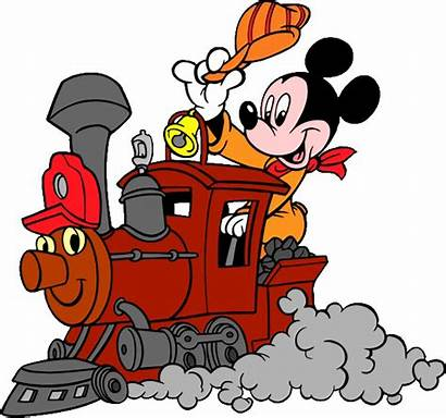 Train Mickey Clipart Mouse Clip Disney Conductor