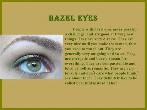 what does my eye color say about me i am this is me and everything on