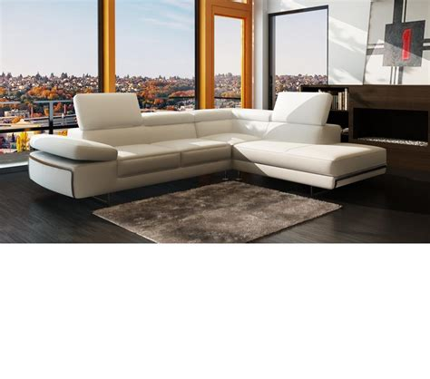 contemporary italian leather sectional sofas dreamfurniture com 965 contemporary italian leather