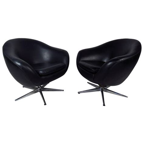 pod swivel chair outdoor midcentury pair of overman pod swivel chairs for sale at