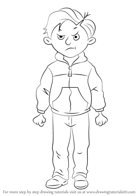 Learn How To Draw Rude Ralph From Horrid Henry Step By Drawing Tutorials
