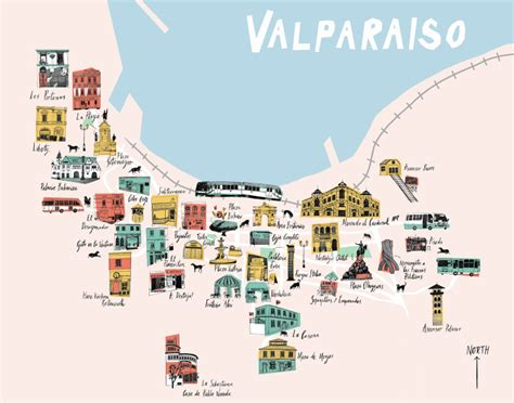 valparaiso chile map