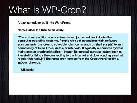 Automating Tasks In Wordpress With Wp-cron