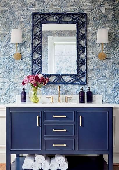 Thibaut Powder Kalahari Teal Bathroom Paneling Spaces