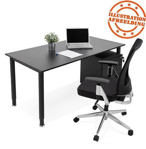 table de bureau design bureau design focus noir table de réunion 160x80 cm