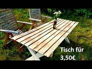 Gartentisch Selbst Bauen : gartentisch aus paletten selbst bauen youtube ~ Whattoseeinmadrid.com Haus und Dekorationen