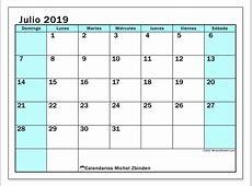 Calendarios julio 2019 DS Michel Zbinden es