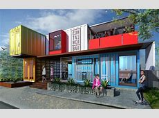 Easily transportable bar made using shipping containers in