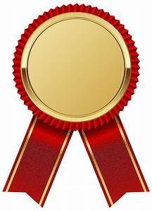 Edit and free download Gold Medal with Red Ribbon PNG Image