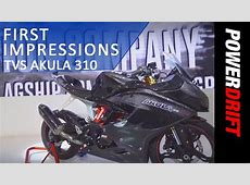 TVS Akula 310 First Look PowerDrift YouTube