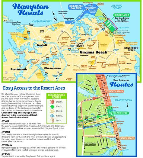 virginia beach tourist map