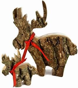 Naturholzplatte Mit Rinde : elch aus eiche mit rinde dekoration wohnen dekorieren holz frank gro handel ~ Markanthonyermac.com Haus und Dekorationen