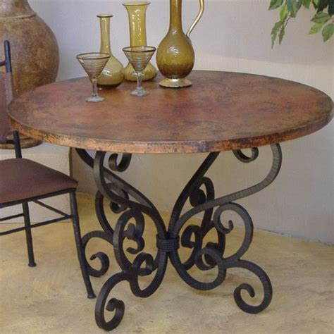 rustic wrought iron table ls nice wrought iron dining table base would look great