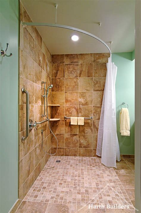 wheelchair accessible bathroom  harth builders