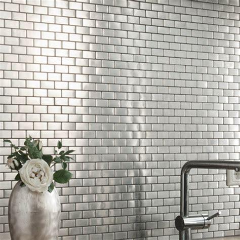 Mosaik Fliesen Küche by Edelstahl Mosaik Fliesen Silber 23x48x8mm Fliesenspiegel