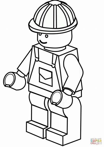 Coloring Construction Pages Worker Tools Hat
