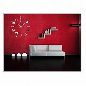 Wanduhren Modern Wohnzimmer : diy 3d wanduhren modern design acryl wanduhren wandtattoo dekoration f rs wohnzimmer ~ Markanthonyermac.com Haus und Dekorationen