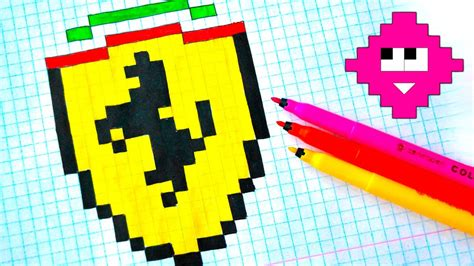pixel art drawing  ferrari youtube