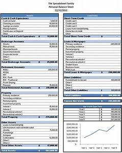 Free excel template to calculate your net worth for Household balance sheet template