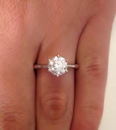 1 carat engagement rings 1 ct cut solitaire engagement ring 14k white gold ebay