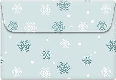 printable envelope template snowflakes