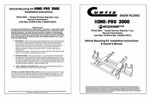 Snow Plows  Vehicle Mounting Kit Installation Instructions