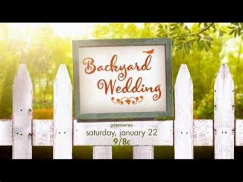 exclusive backyard wedding hallmark channel original