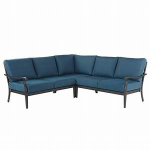 Metal outdoor sofa modern metal outdoor sofas allmodern for Outdoor sectional sofa metal