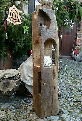 stehle aus treibholz windlicht laterne aus holzbalken alt eichenbalken stele