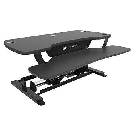 height adjustable standing desk riser versadesk power pro 30 quot electric height adjustable