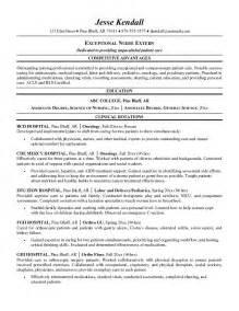 nursing resumes exles free exle extern resume free sle
