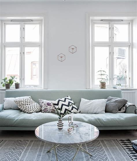 Mint Green Living Room Ideas by Mint Green Sofa In A Light Home Home Green Sofa