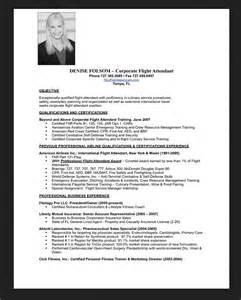Resume Sample For Flight Attendant Resumes Design