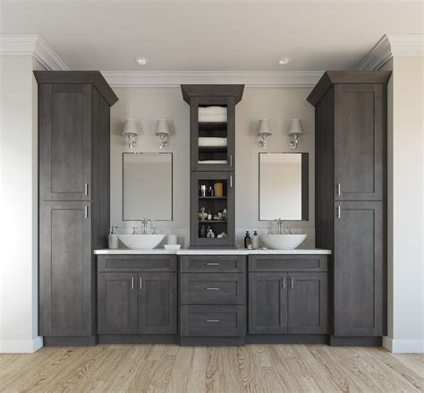 natural grey shaker ready  assemble bathroom vanities