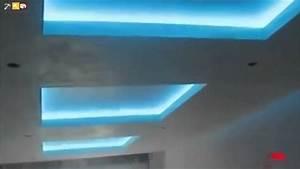 Faux Plafond Placo : decoration faux plafond placo ba13 avec led lumineuse ~ Melissatoandfro.com Idées de Décoration