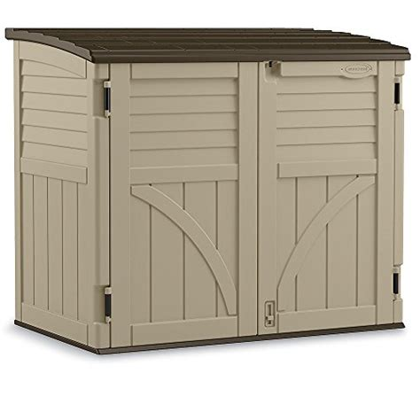 Suncast Outdoor Vertical Storage Shed by Suncast Horizontal Storage Shed 53 Wx32 1 2 Dx45 1 2 H